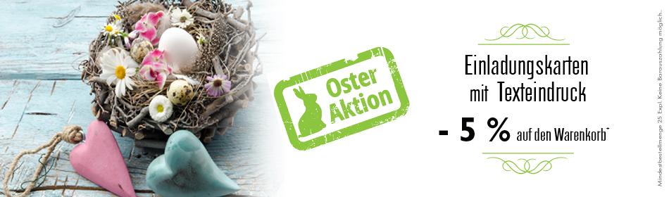 Einladungskarten-Rabatt Ostern