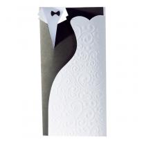 """Ausgefallene Hochzeitskarten """"Brautpaar"""" im eleganten Design"""