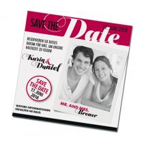 """Ausgefallene Save the Date Karten """"Foto"""" in modernem Design"""