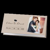 """Dankeskarten """"Hochzeit"""" auf trendigem Kraftkarton mit Ihrem eigenen Foto"""