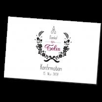 """Moderne Dankkarten """"Kommunion & Konfimation"""" im trendigen Design."""