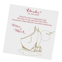 """Dankkaten """"Segelschiff"""" - im maritimen Design"""