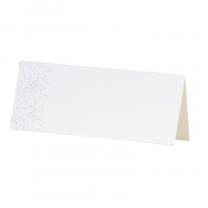 """Tischkarten """"Blumenornament"""" mit herrlicher Weißfolienprägung"""
