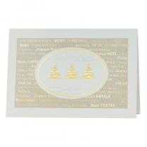 """Edle Weihnachtskarten """"Modern"""" mit herrlicher Relief-Goldfolienprägung und internationalen Weihnachtswünschen"""