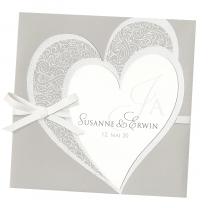 """Einladung """"Romantisches Desing"""" mit luxuriöser Gestaltung und Highlights in Velouroptik"""
