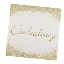 """Einladungen """"Eröffnung"""" mit edler Goldfolienprägung"""