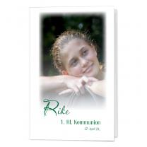 """Einladungskarten """"Rieke"""" für die Kommunion & Konfirmation im hübschen Design"""