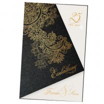 """Einladungskarten """"Barock"""" mit edler Goldfolienprägung"""