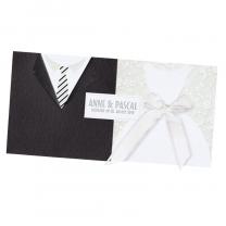 """Einladungskarten """"Braut & Bräutigam"""" im edlen Design"""