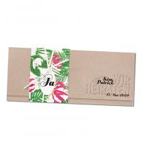 """Einladungskarten """"Hochzeit - Hawaii"""" im modernen Design"""