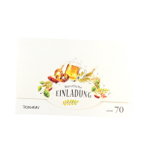 """Einladungskarten """"Oktoberfest"""" mit edler Silberfolienprägung"""