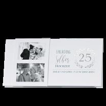 """Einladungskarten """"Silberhochzeit"""" mit edler Silberfolienprägung"""