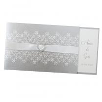 """Elegante Hochzeitseinladungen """"Strassherz"""" - im edlen Design"""