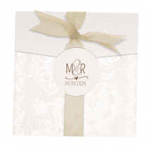 Elegante Hochzeitskarten im hübschen Barockdesign