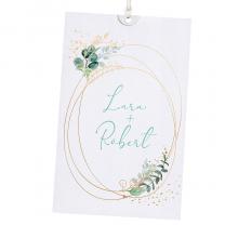 Elegante Hochzeitskarten mit edler Goldolienprägung