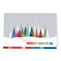 """Farbenfrohe Weihnachtskarten der """"Kindernothilfe"""" mit edler Goldfolienprägung"""