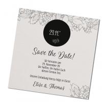 Festliche Save-the-Date-Karte im modernen Design