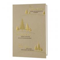 Goldene Weihnachtskarten