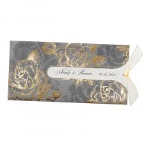 """""""Herbsthochzeit Vintage"""" mit glänzender Goldfolienprägung, schöner Stanzung und zartem Zierbändchen"""