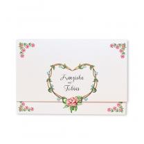 """Hochzeitsbrief """"Rosen"""" auf schimmerndem Metallickarton"""