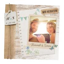 """Hochzeitseinladung """"Gartenparty"""" im trendigen Vintage-Desing"""