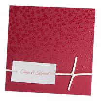 """Hochzeitseinladungen """"Bordeauxrot"""" mit eleganter Veredelung"""