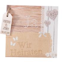 """Hochzeitseinladungen """"Landhausstil"""" - im romantischen Design"""