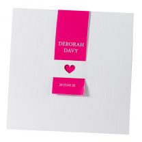 """Hochzeitseinladungen """"Pink"""" mit moderner Kroko-Optik"""