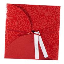 """Hochzeitseinaldungen """"Rote Elegancce"""" - mit glänzeder Folienprägung"""