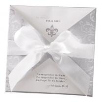 """Hochzeitseinladungen """"Silber"""" im edlen Design"""