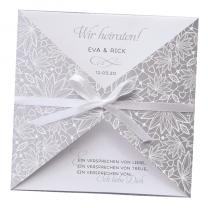 """Hochzeitseinladungen """"Silber"""" - mit ausgefallener Veredelung"""