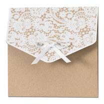 """Hochzeitseinladungen """"Vintage"""" - auf trendigem Kraftkarton"""