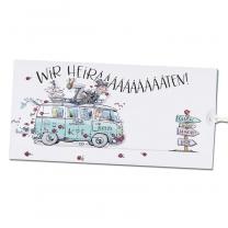 """Hochzeitseinladungen """"VW Bus"""" im exravaganten Design zum Herausziehen"""