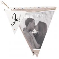 """Hochzeitseinladungen """"Wimpel"""" im ausgefallenen Design"""