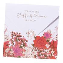 """Hochzeitseinladungskarten """"Blumen"""" im ausgefallenen Design"""