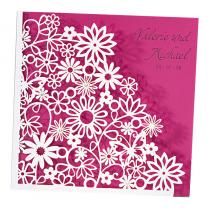 Hübsche Hochzeitskarten mit ausgefallener Laserstanzung & Strassaplikationen