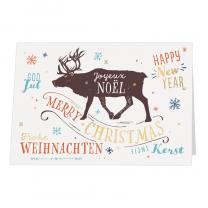 Internationale Weihnachtskarten mit edler Goldfolienprägung