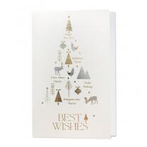 Internationale Weihnachtskarten mit edler Gold- & Silberfolienprägung