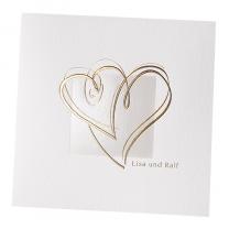 Klassische hochzeitskarten mit edler Gold- & Perlmuttfolienprägung