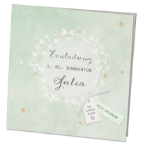 """Einladungskarten """"Julia"""" mit edler Goldfolienprägung"""