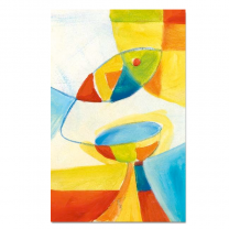 """Kommunionbildchen / Heiligenbildchen """"Christus stärkt"""" im farbenfrohen Design"""