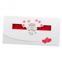 Lustige Hochzeitseinladungen im romantischen Design