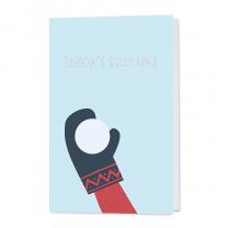 Lustige Neujahrskarten mit fröhlichem Schneeball-Motiv