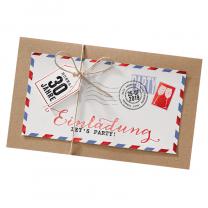Moderne Einladungskarte mit eleganter Folienprägung