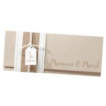 Moderne Hochzeitseinladungen mit trendiger Banderole