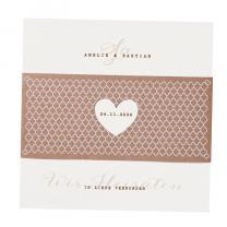 Moderne Hochzeitskarte mit trendiger Banderole
