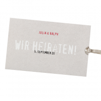 """Moderne Hochzeitskarten """"Trend"""" im modernen Design"""