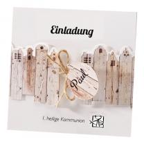 """Moderne Kommunionkarte """"Vintage"""" im trendigen Design"""
