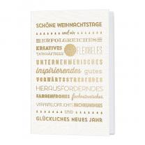 Moderne Weihnachtskarte mit edler Goldfolienprägung