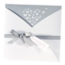 """Hochzeitseinladungen """"Schmetterlinge"""" im eleganten Design"""